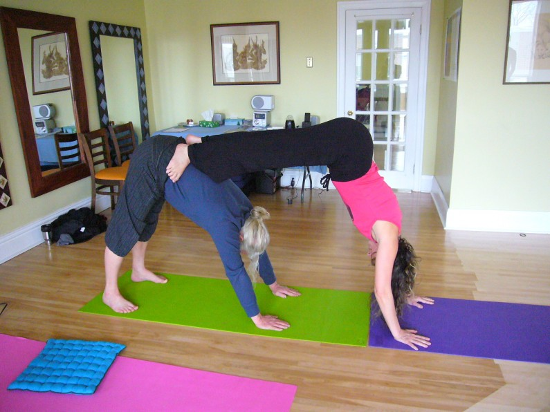 Practicing Yoga With Buddies