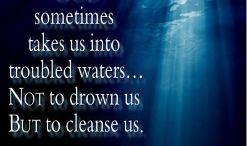 Deep troubled waters in life: the analogy