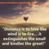 Distance vs Love: The Un-Mathematical Equation