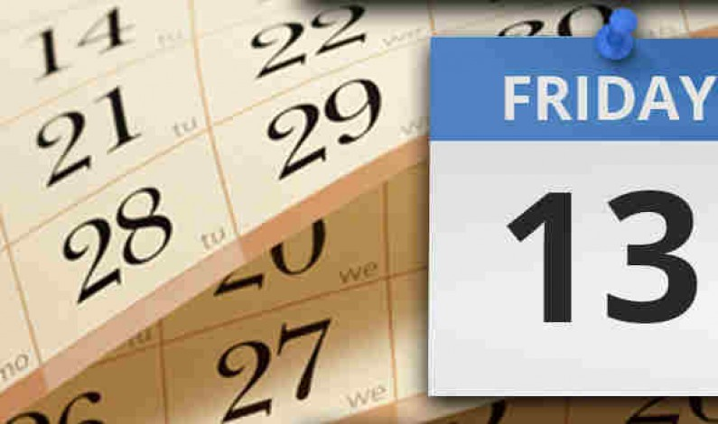 Friday the 13th…….is it actually an inauspicious day?