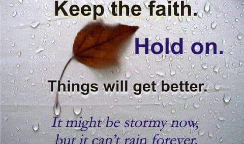 Hold On: It Will Change