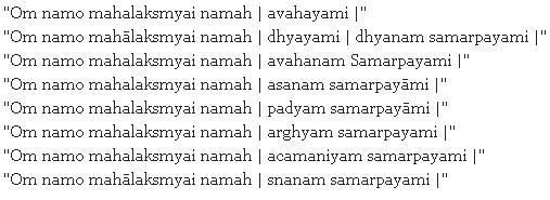 Laxmi Pooja Mantras