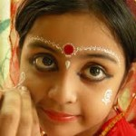 A Young Girl Getting Ready for Puja