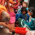 Swami Veda (AHYMSIN) Seeking Blessings of a Young Girl