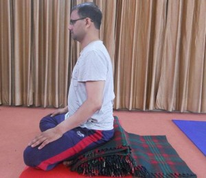 Correct Sitting Posture - Side View