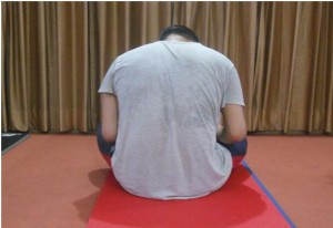 Wrong Sitting Posture - Rear View