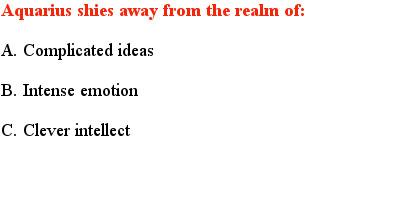 3 Aquarius Quiz Questions