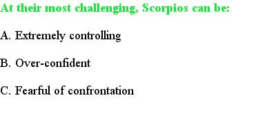 3 Scorpio Quiz Questions