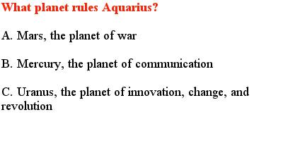 4 Aquarius Quiz Questions