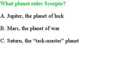 4 Scorpio Quiz Questions