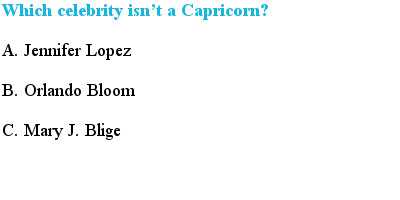 6 Capricorn Quiz Questions