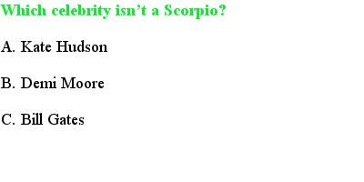 6 Scorpio Quiz Questions