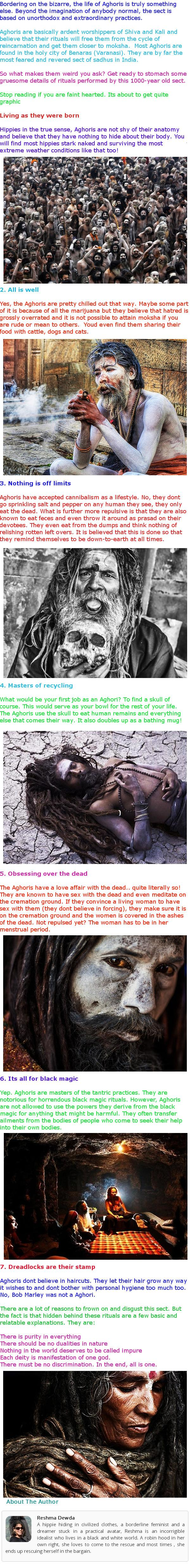 Aghori Sadhus: Some More Facts | Metaphysics Knowledge