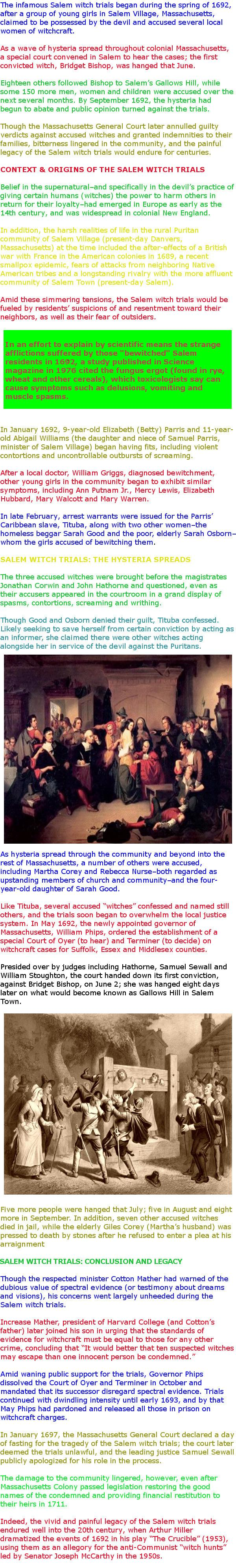 salem witch trials and forbidden knowledge An account of the salem witchcraft trials one victim of the salem witch hunt  it cannot be imagined that in a place of so much knowledge, so.